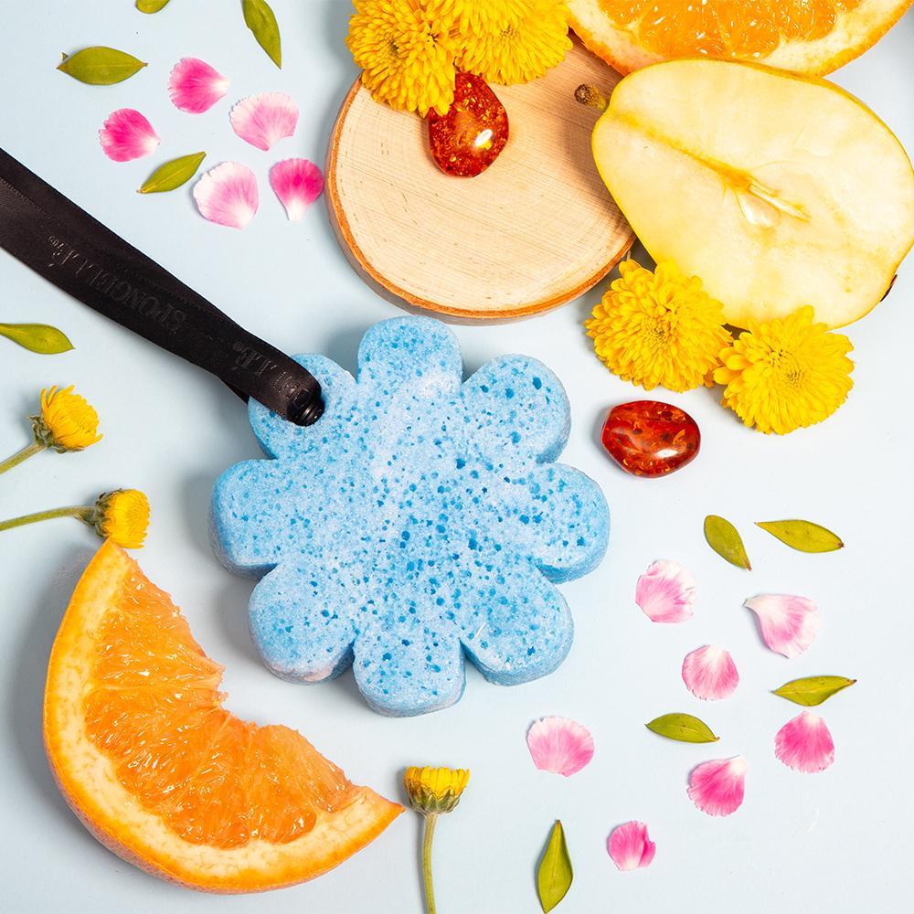 esponjas exfoliantes infusionadas con jabón
